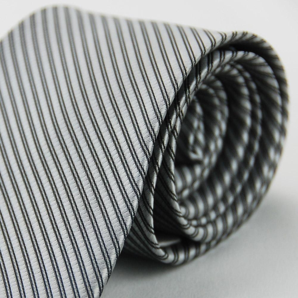 Alpaca 灰色黑斜紋領帶