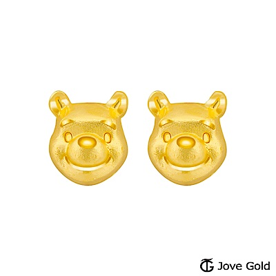 Disney迪士尼金飾 維尼系列-維尼黃金耳環