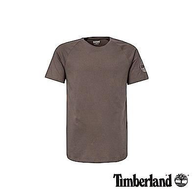 Timberland 男款瀝青灰袖標反光短袖T恤