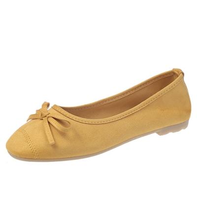 KEITH-WILL時尚鞋館 甜美玩色彈力豆豆鞋-黃色