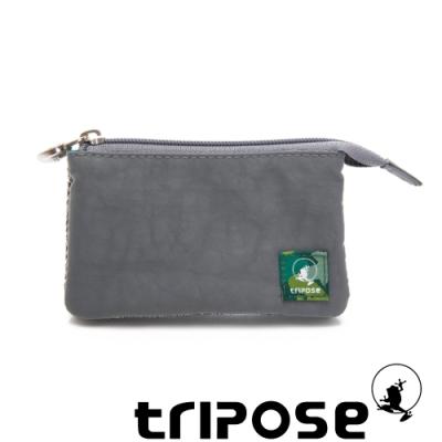 tripose 漫遊系列岩紋簡約微旅萬用零錢包 優雅灰