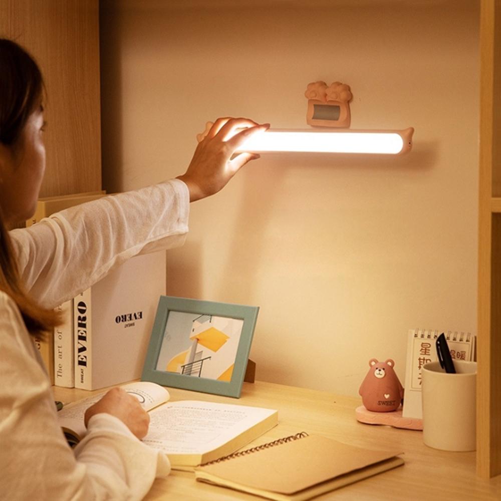 貓掌磁吸觸控檯燈 LED調光燈 貓咪閱讀燈條 USB充電