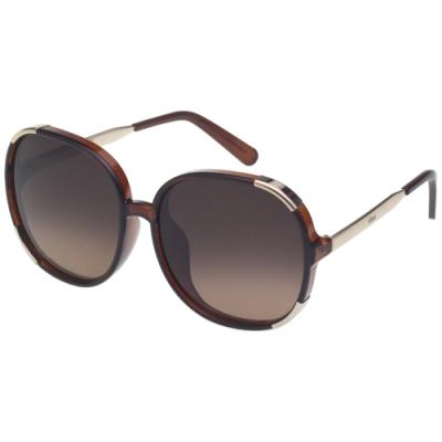 CHLOE 太陽眼鏡 圓框 經典款 (咖啡色) CE721SA