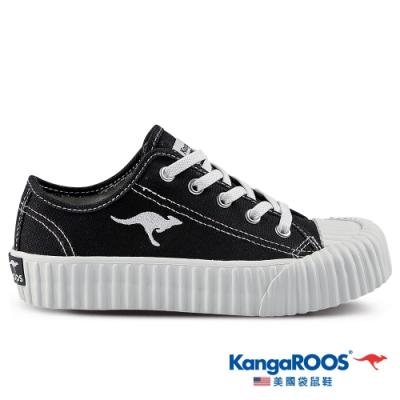 KangaROOS 美國袋鼠鞋 童鞋 CRUST 甜點手工餅乾鞋/休閒鞋(黑-KK11380)