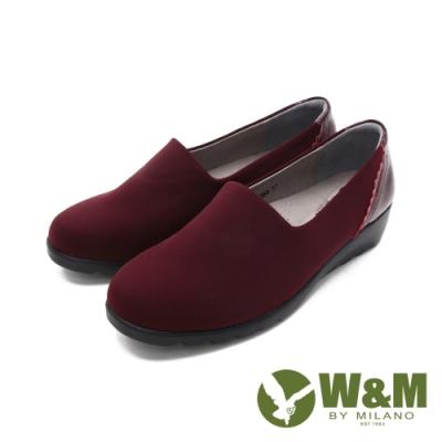 W&M(女)萊卡彈力增高楔形休閒鞋 女鞋-酒紅(另有黑)