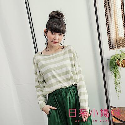 日系小媽咪孕婦裝-正韓孕婦裝~粉嫩多色條紋針織上衣