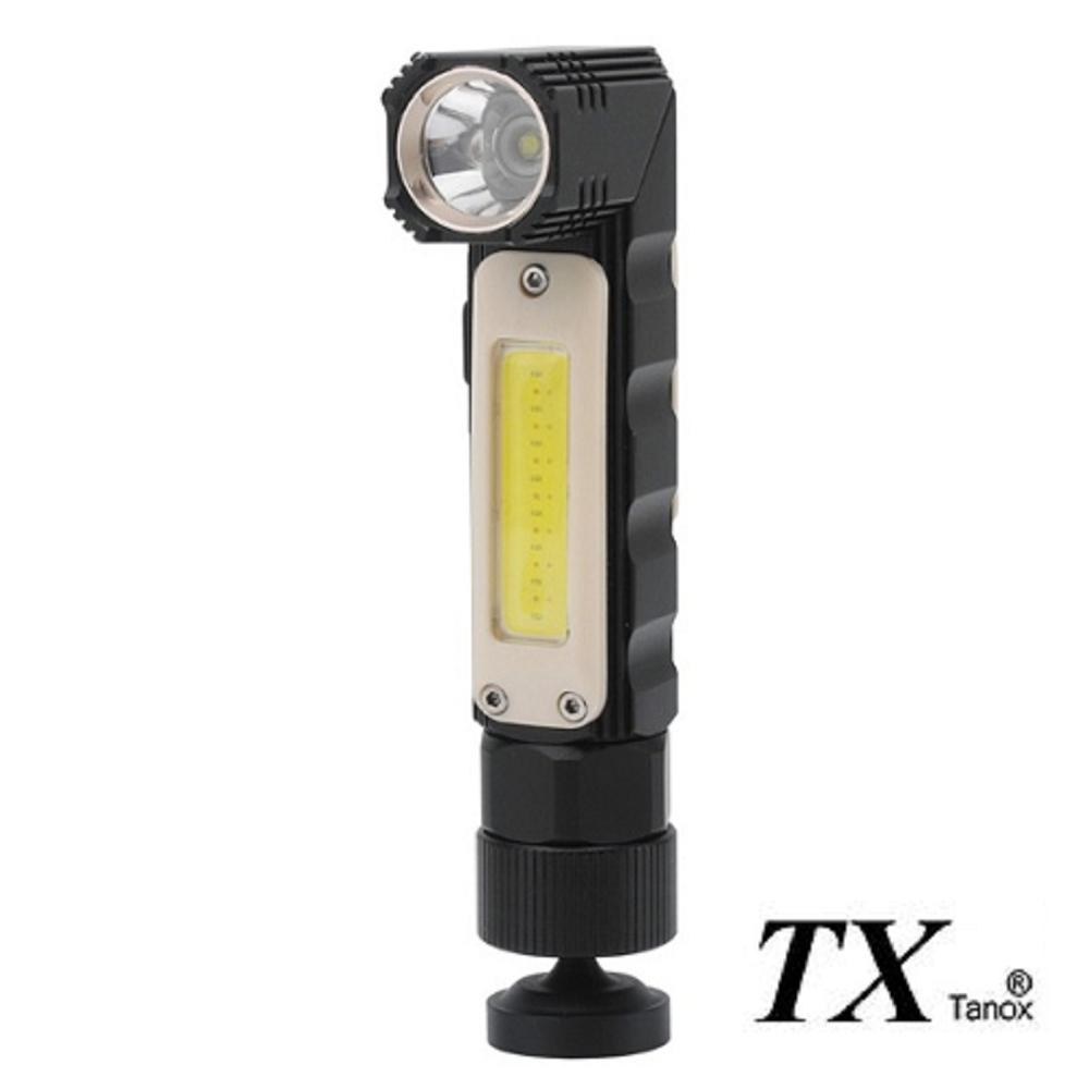 TX特林USB充電多功能多用途手電筒/頭燈(T-COB2020)