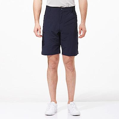 【HAKERS 哈克士】男 快乾彈性短褲-海軍藍