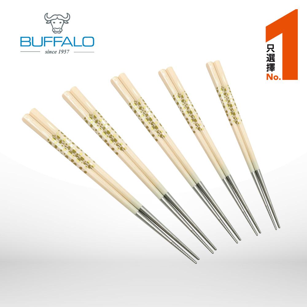 牛頭牌 雅潔複合八角波卡筷5入(白)