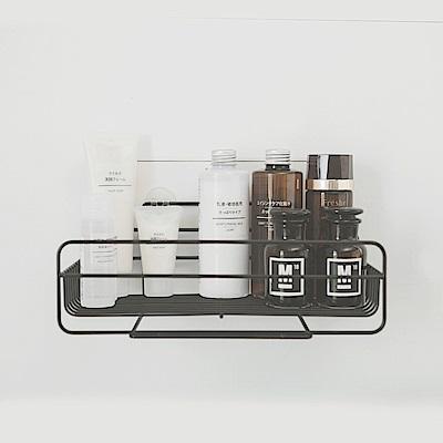 Home Feeling 烤漆黑化妝品架/瓶罐架/置物架/無痕貼 2入