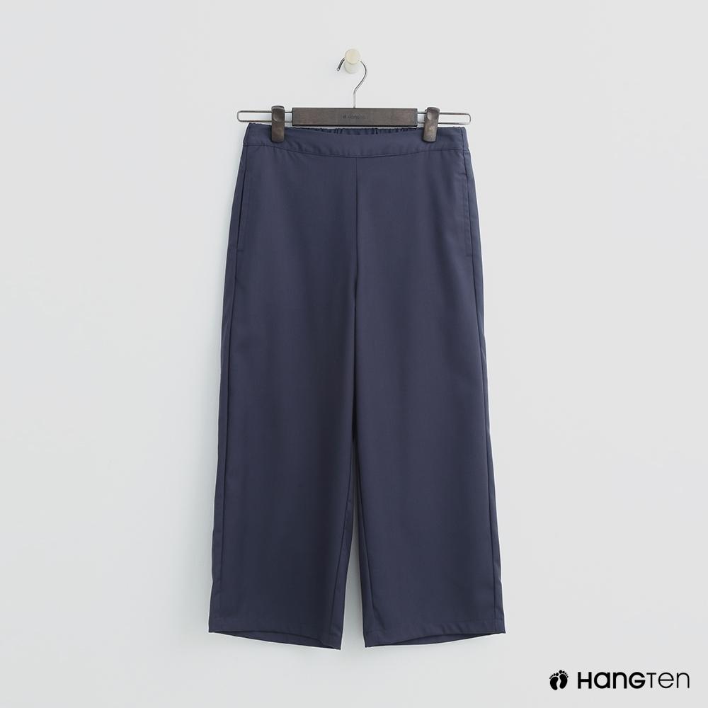 Hang Ten - 女裝 -素面後鬆緊寬褲 - 藍