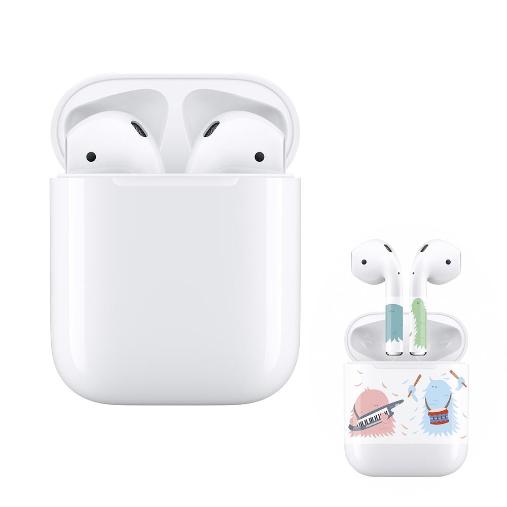 (保護貼組合) APPLE 2019 AirPods 藍芽耳機 搭配有線充電盒 (第2代)