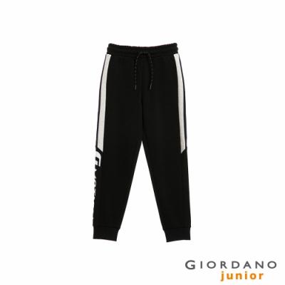 GIORDANO 童裝G-MOTION側邊字母運動束口褲-09 標誌黑