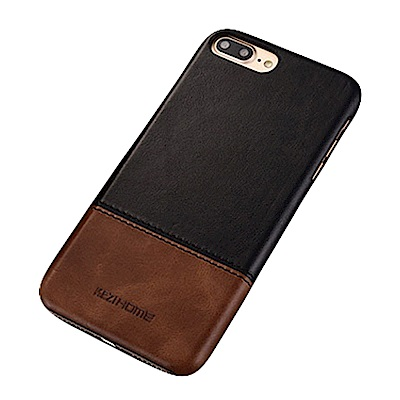 KEZiHOME 復古系列 iPhone 7/8 Plus 真皮拼接背蓋手機殼