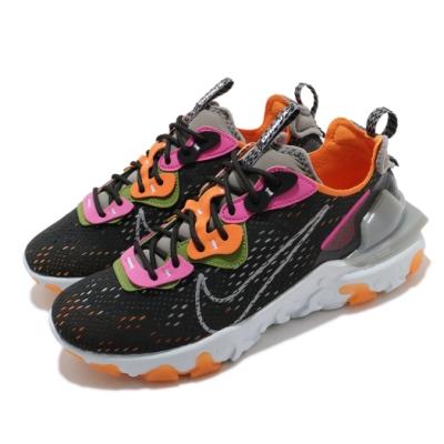 Nike 休閒鞋 React Vision 運動 男鞋 海外限定 舒適 避震 包覆 球鞋 黑 橘 CD4373003