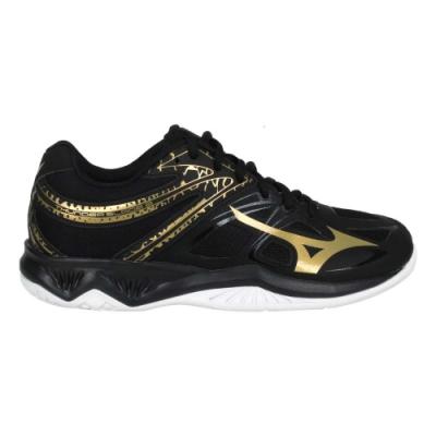 MIZUNO THUNDER BLADE 2 男女排球鞋-2.5E 美津濃 V1GA197052 黑金