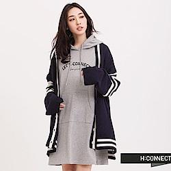 H:CONNECT 韓國品牌 女裝 - 開襟橫紋針織外套-藍(快)