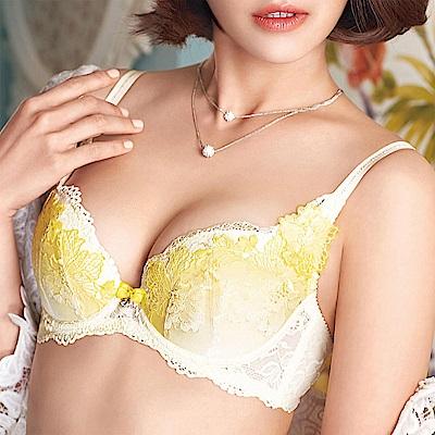 華歌爾 伊珊露絲 浪漫歐洲 D-E 罩杯內衣(曙光黃)