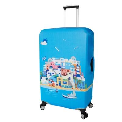 CS0424L 希臘定位 L號26-28吋日版彈力拉桿箱保護套 行李箱套