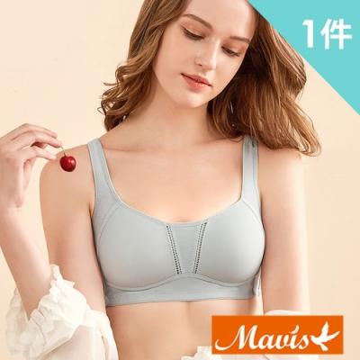 Mavis瑪薇絲-3D立體透氣無鋼圈內衣/睡眠內衣/運動內衣(灰色)