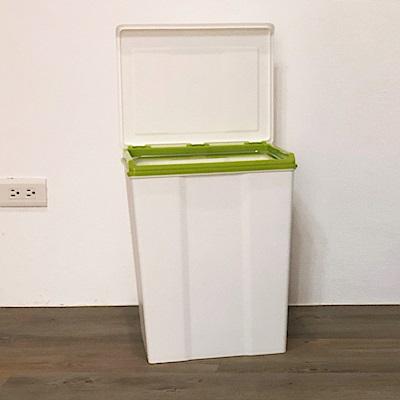 創意達人x樹德SHUTER康芮雪白掀蓋垃圾桶28L-2入組(四色隨機出貨)