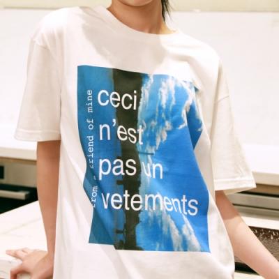 from a friend of mine時尚白Tshirt