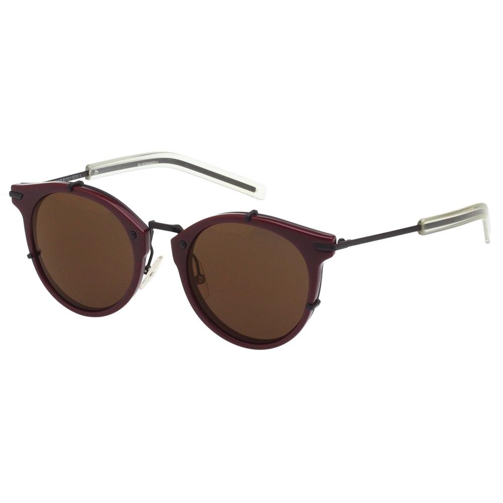 Dior 復古型 太陽眼鏡 (咖啡紅色)
