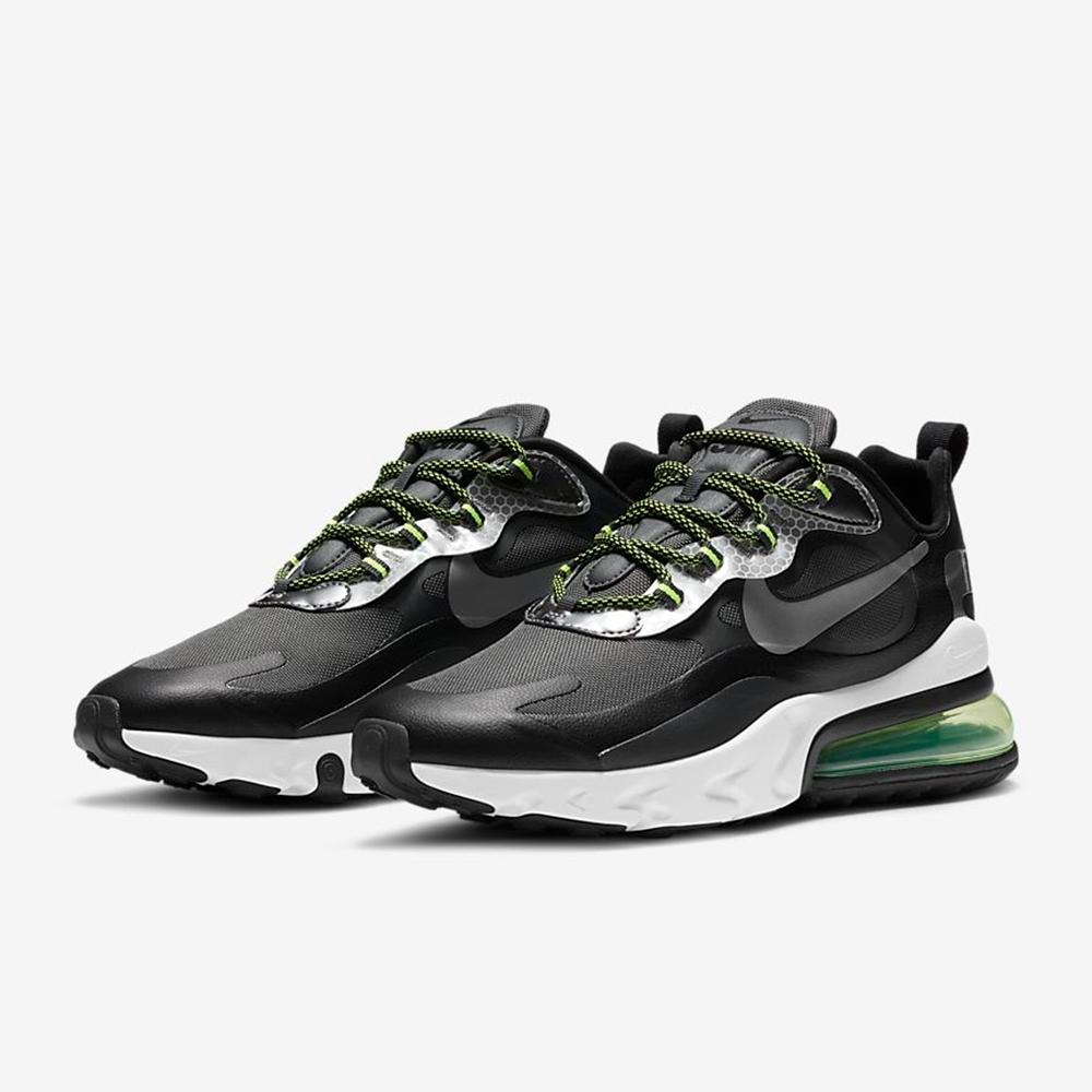 NIKE 運動鞋 慢跑 氣墊 避震 健身 男鞋 黑綠 CT1647001 Air Max 270 React