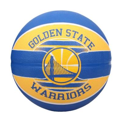 SPALDING 19勇士 #5號籃球-室外 NBA 隊徽球 5號球 運動 斯伯丁 SPA83587 藍黃