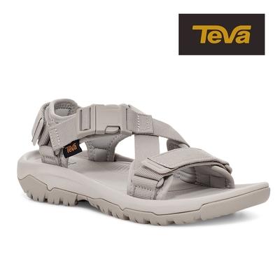 【TEVA】原廠貨 女 Hurricane Verge 交叉織帶快扣運動涼鞋/雨鞋/水鞋(銀灰色-TV1121535SLCL)