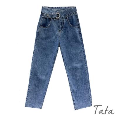 不對稱褲頭牛仔褲 TATA-(S~L)