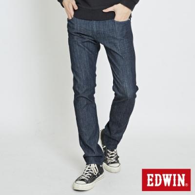 EDWIN EDGE LINE COOL 涼感 藍袋花 窄直筒牛仔褲-男-原藍色