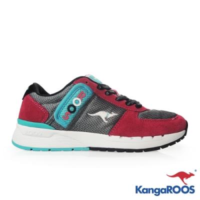 KangaROOS 美國袋鼠鞋 女 COMBAT 經典口袋鞋(桃紅)