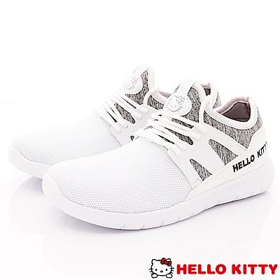HelloKitty童鞋 時尚休閒鞋款 SE19815白(大童親子段)