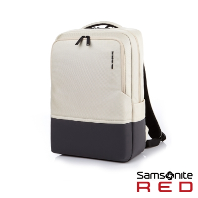 Samsonite RED HOSUE 極簡中性筆電後背包15.6吋(象牙白)