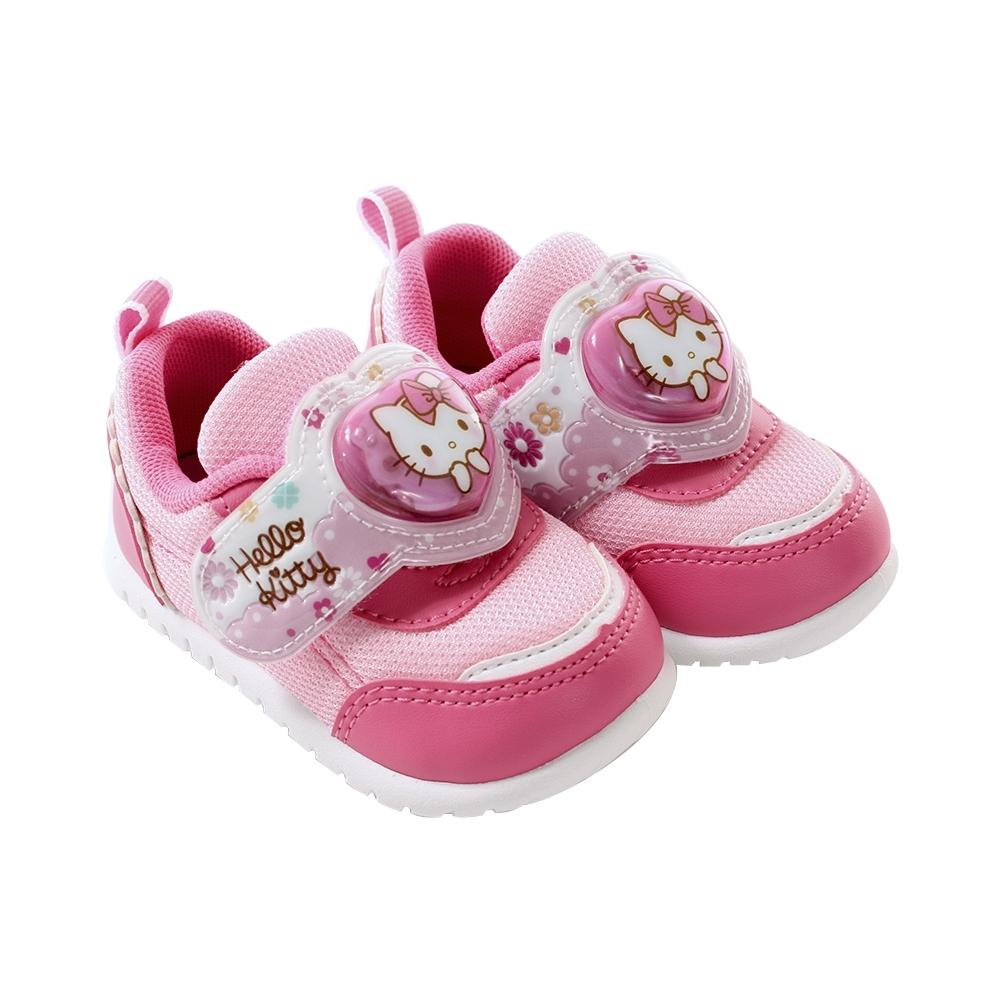 魔法Baby女童鞋 台灣製Hello kitty正版閃燈運動鞋 電燈鞋sk1056