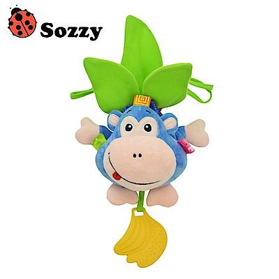 Sozzy安撫玩具音樂拉鈴 猴子嬰兒車玩偶