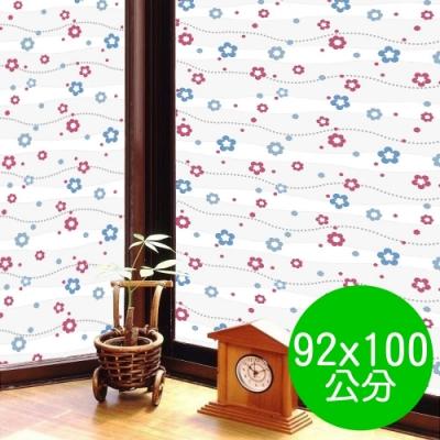 ★促銷★〔日本MEIWA〕抗UV靜電3D窗貼 (亮彩花瓣)92x100公分