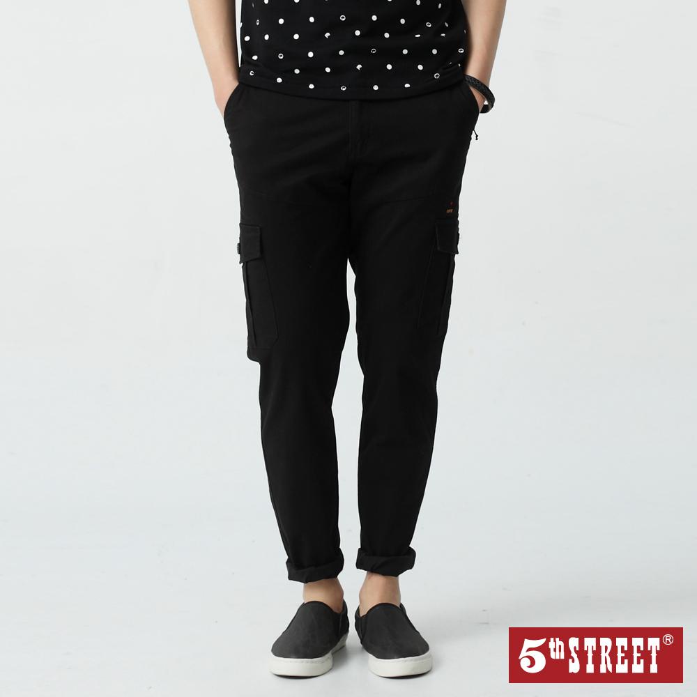5th STREET 潮系列工作色褲-男-黑色