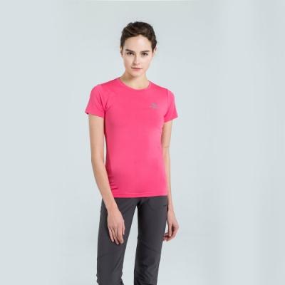 【St. Bonalt 聖伯納】女款單色涼感速乾圓領T恤 (7188-桃紅) 吸濕 排汗 涼感 速乾 透氣 親膚 彈力
