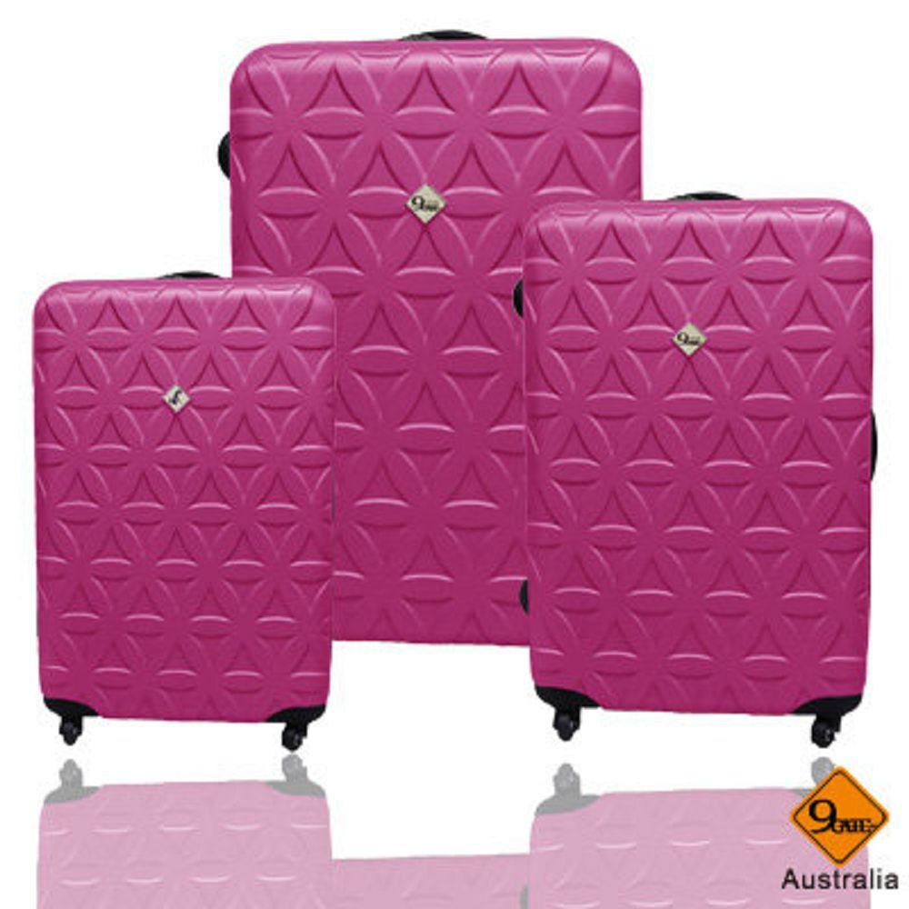 ?Gate9花花系列ABS霧面輕硬殼三件組旅行箱/行李箱