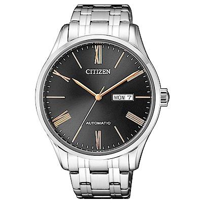 CITIZEN  霸氣再現自動上鍊機械腕錶(NH8360-80J)- 黑/41mm
