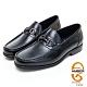 AMBER經典系列漸層皮革金屬扣環直套式紳士鞋方頭鞋-黑色 product thumbnail 1