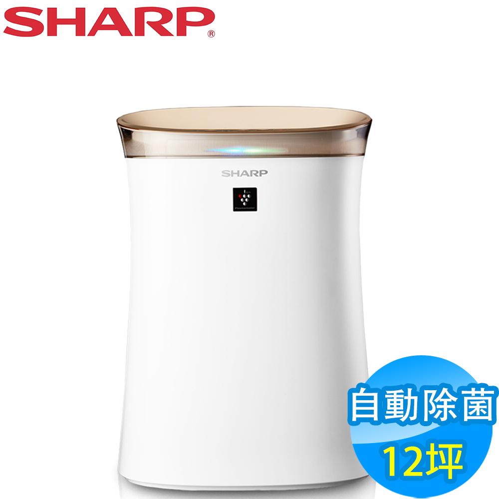 [時時樂]SHARP夏普 12坪 自動除菌離子空氣清淨機 FU-G50T-W