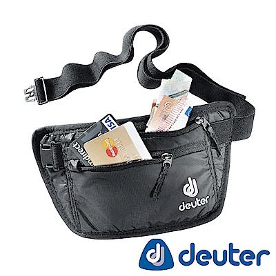 【ATUNAS 歐都納】德國DEUTER貼身隱藏式腰包3910216黑/旅遊防竊隨身配件包