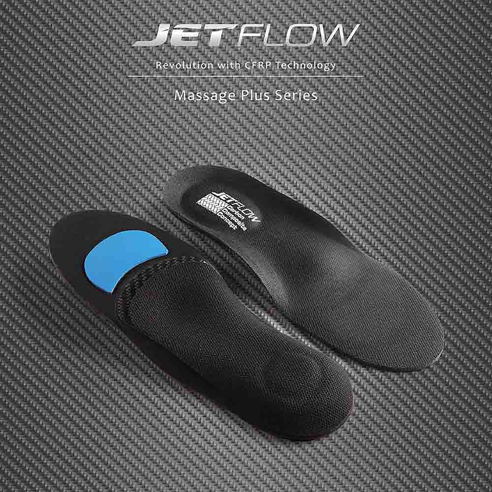 JETFLOW杰特福碳纖維鞋墊MASSAGEPLUSSERIES-加強版