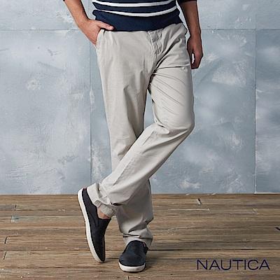 Nautica美式休閒修身長褲-淺卡其