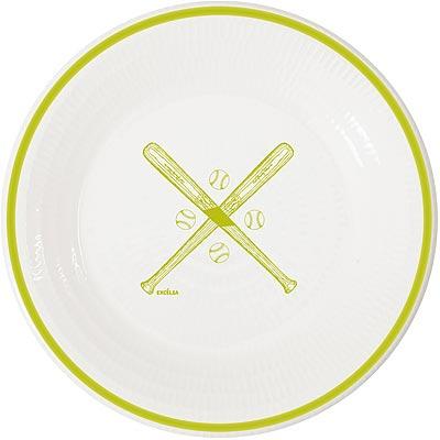 《EXCELSA》陶製平盤(棒球綠)