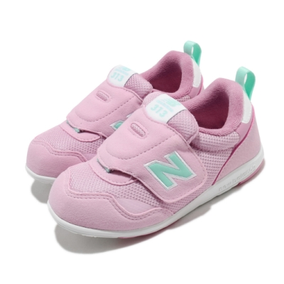 New Balance 休閒鞋 313 Wide 寬楦 運動 童鞋 紐巴倫 經典款 魔鬼氈 簡約 小童 粉 綠 IT313FPPW
