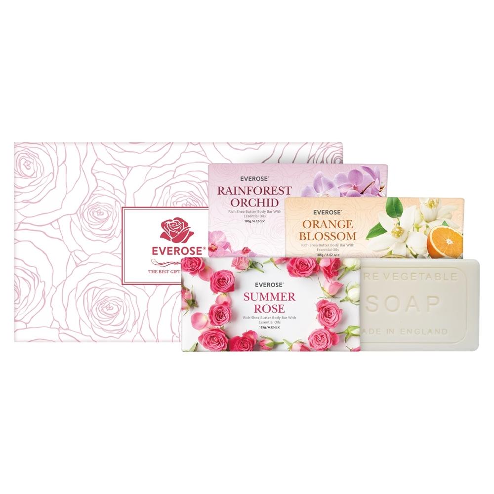 EVEROSE愛芙蓉 柔嫩皂4入熱銷禮盒